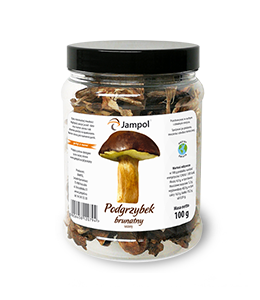 sloik z suszonymi grzybami 100g